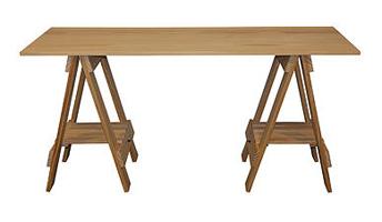 Trestle Desk Black Pine